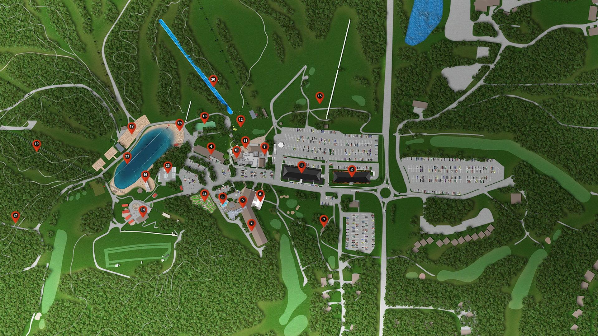 Horseshoe Resort Residences Amenities Map Image