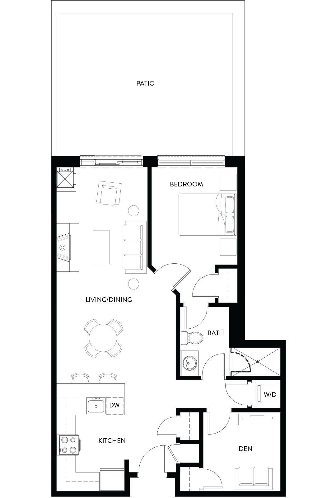 Copeland House Piste Floorplan Image